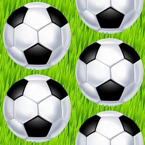 Soccer Ball on Tall Green Grass