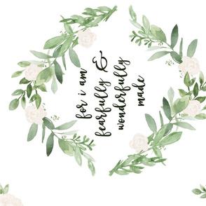 Greenery and Blush Flower Wreath