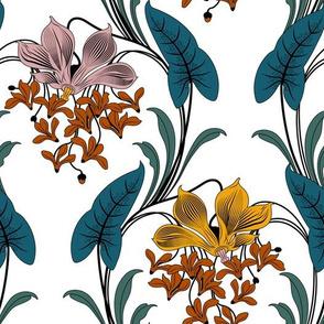 Art Nouveau Floral Pattern (Limited Palette)