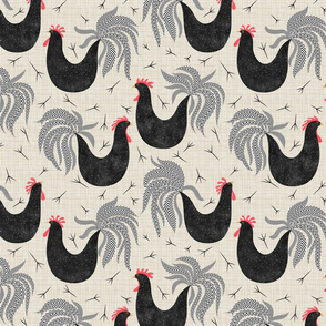 Roosters repeating