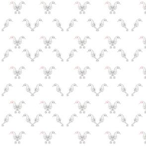 Sea horse - white