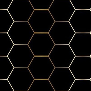 GOLD and black hex tile hexagon tile