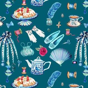Jane Austens favourite things , dark teal