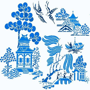 chinoiserie villages 3 blue