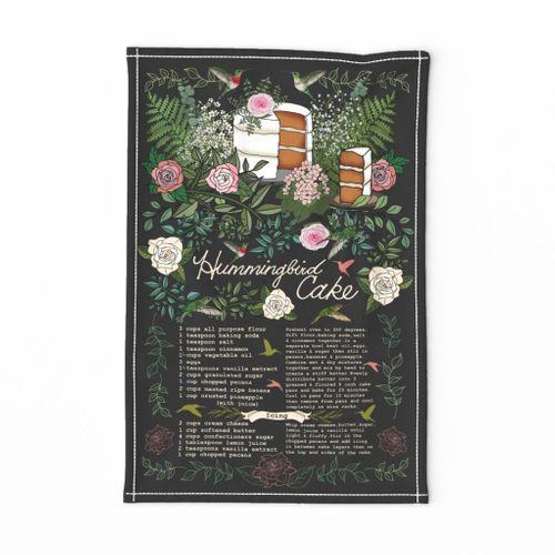 Hummingbird Cake Recipe Tea Towel