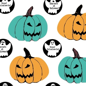Fall holiday , Halloween Cut & sew #tealpumpkinproject decorations, Halloween // Teal Pumpkin Project Awareness