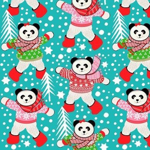 Scandinavian  pandas Christmas sweater