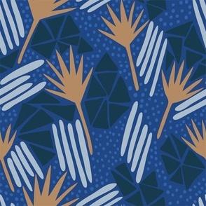 Petrified Leaves_Blue