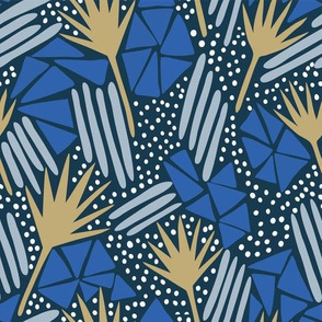 Petrified Leaves_Dark Blue