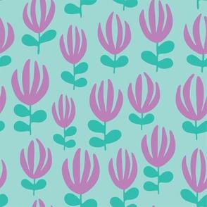 Scattered Florals_light blue