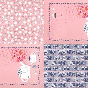 Elephant Love  (4 tea towels in 1 yard)