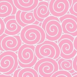 pink sweet rolls