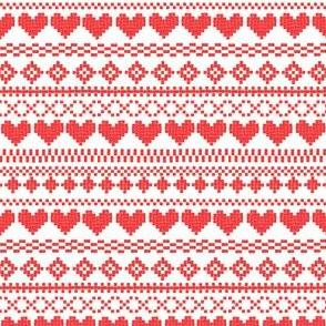 Fair Isle Red & White