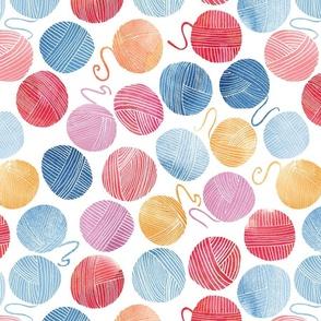 Yarn pattern watercolour