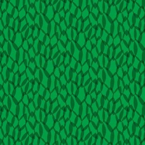 Overlapping Leaves - Dark Green - Small