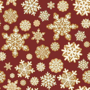 Gingerbread Snowflakes // red