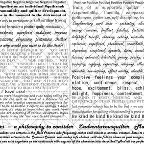 Continuum of Quilters Tiny Text Print