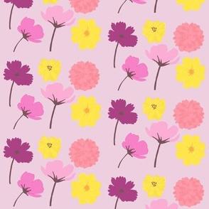 Pressed Flowers Pink