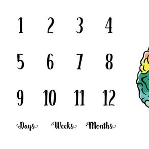 Brainy Milestone Blanket   Rainbow