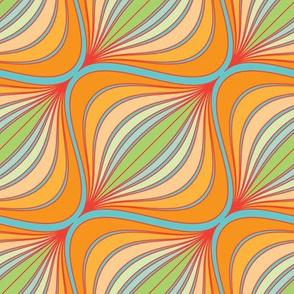 Curve Pattern Tangerine by ArtfulFreddy