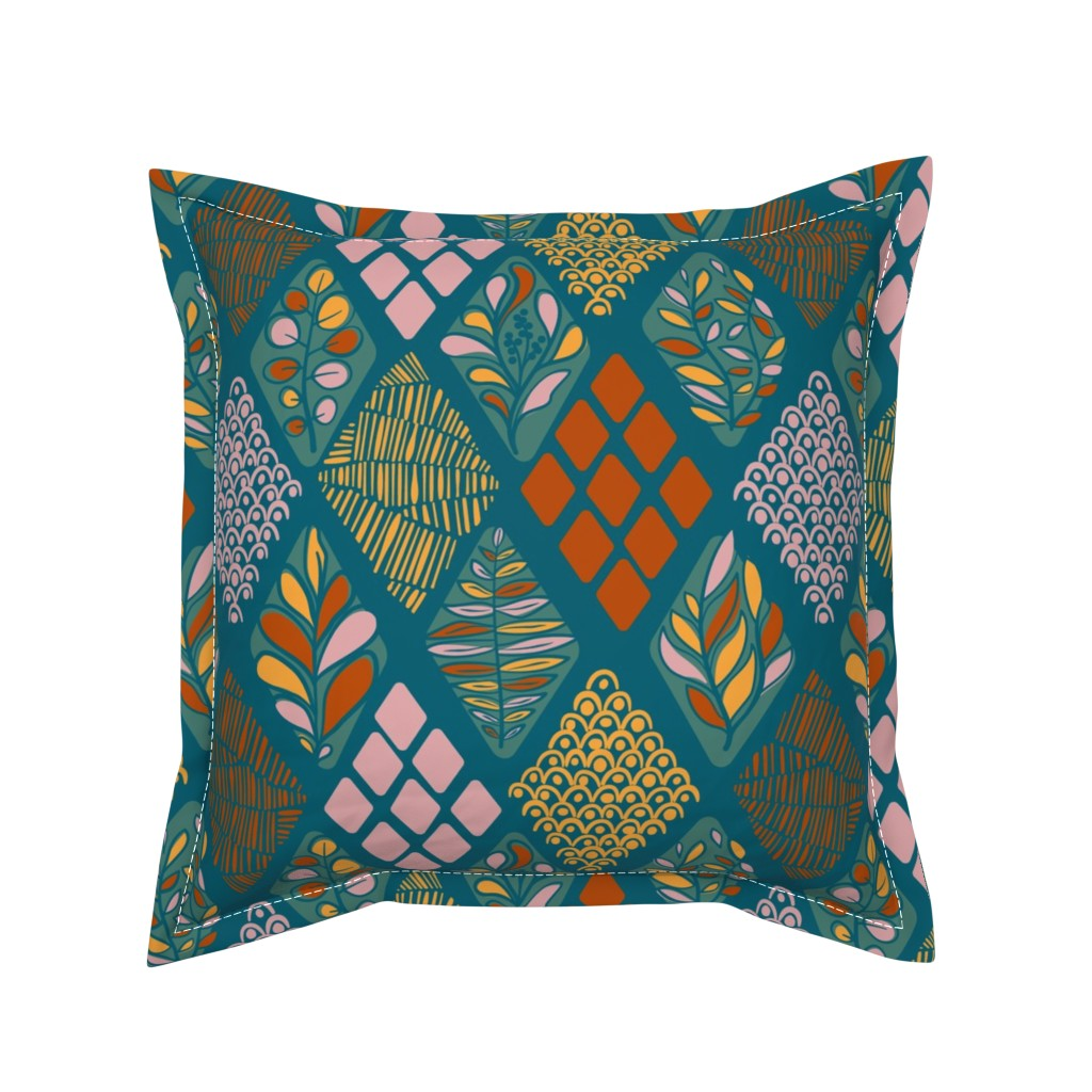 Serama Throw Pillow featuring Fall Textures by wildnotions