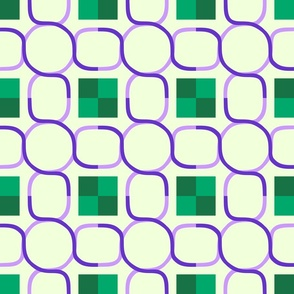 Celtic Chain - Purple Green B