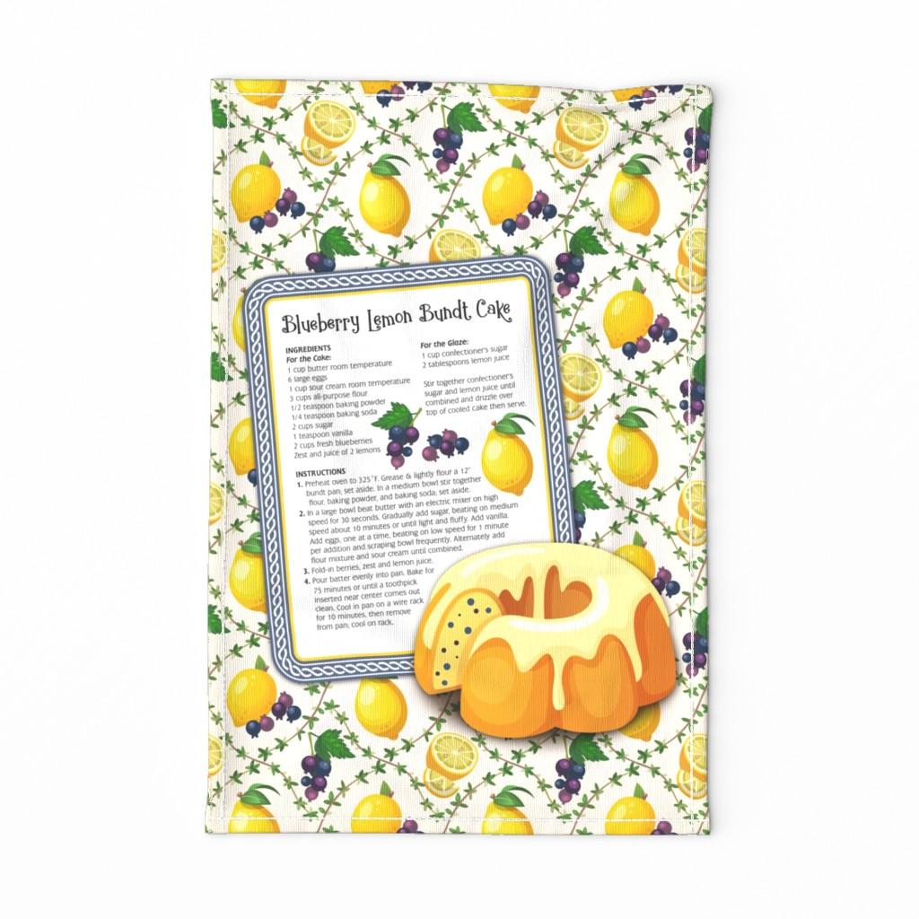 Special Edition Spoonflower Tea Towel featuring Tea Towel-Blueberry Lemon by malibu_creative