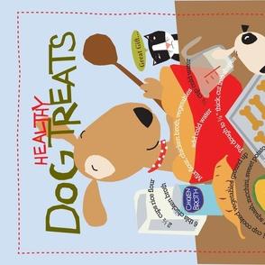 Dog Treat tea towel