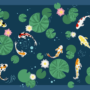Koi Pond // tea towel