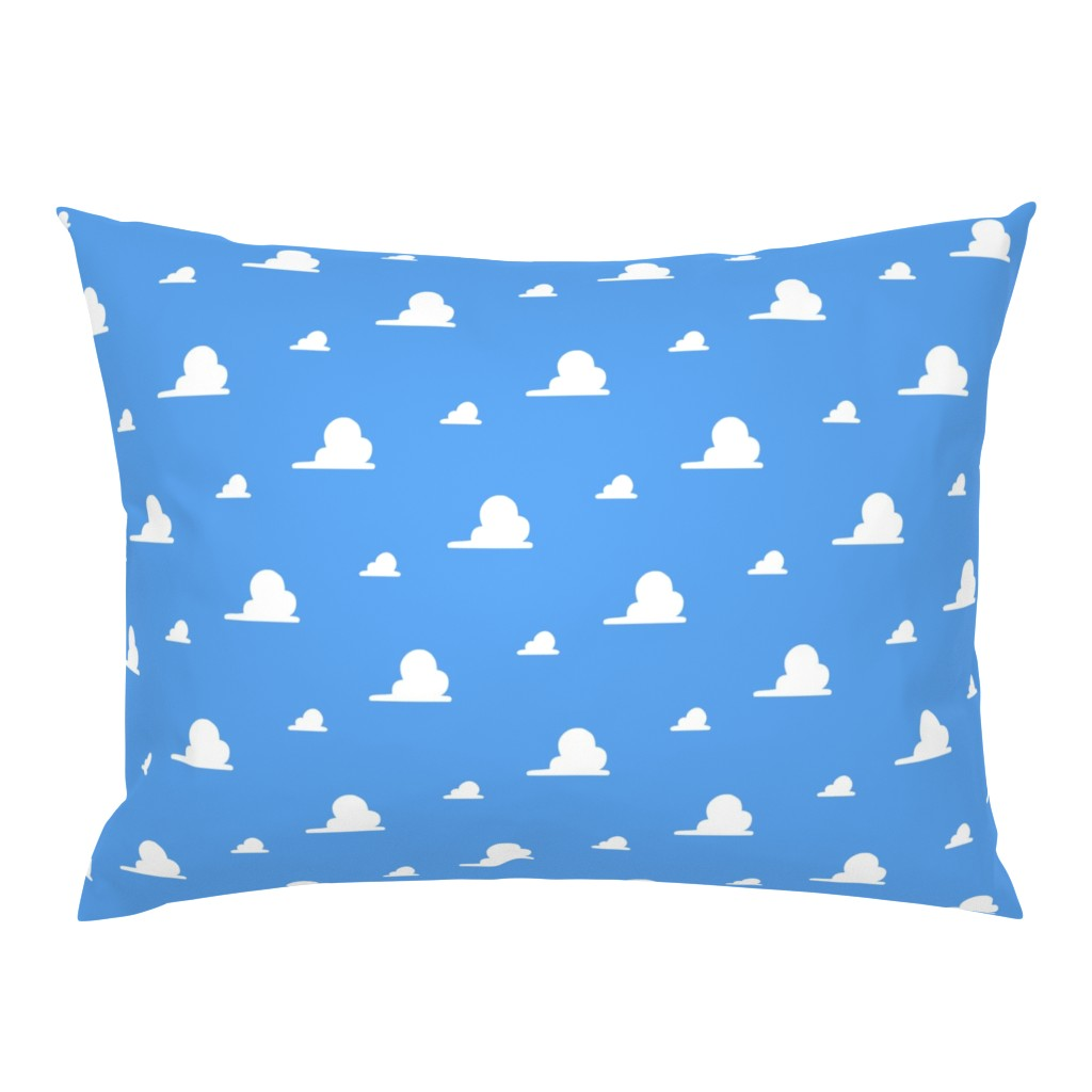 Campine Pillow Sham featuring Clouds Story Toy by lanrete58