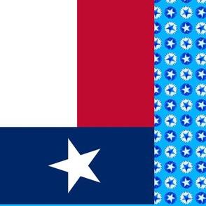 texas flag face mask blocks