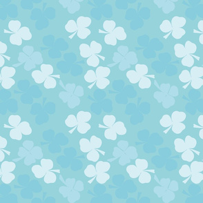 Clovers all around - a hue of blue
