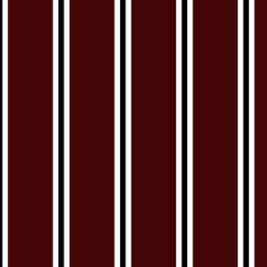 Burgundy White and Black Stripes