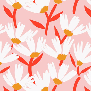 Daisy Days on dusty pink