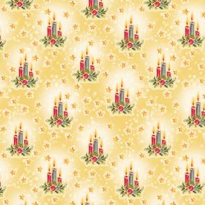 Christmas Candle Yellow
