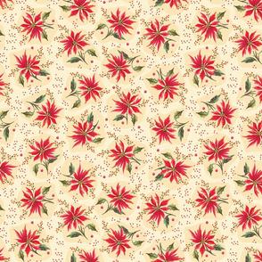 Poinsettia Floral Cream
