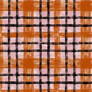 October Plaid in Terracotta & Blush classic