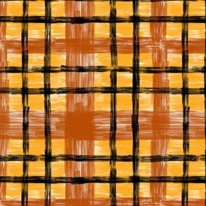 October Plaid in Terracotta & Saffron classic