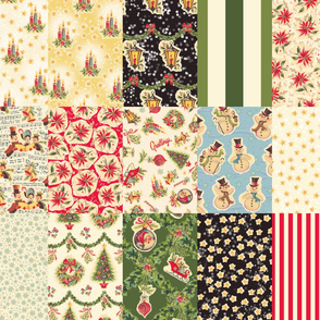 Retro Christmas Decals Collection 1 yard RCD