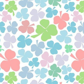 Clovers in pastel colours