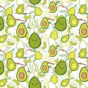 Happy Avocados - Medium Print
