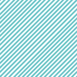 Robins Egg Blue Diagonal Stripes