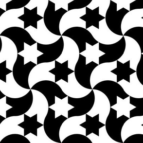08050183 : circle arc triangle + star