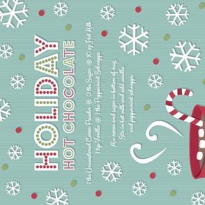 Holiday Hot Chocolate Recipe Tea Towel