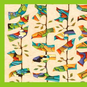 SP towel colorfowl birds