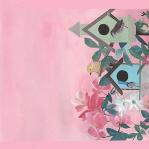 Birdhouses Design Tea Towel design