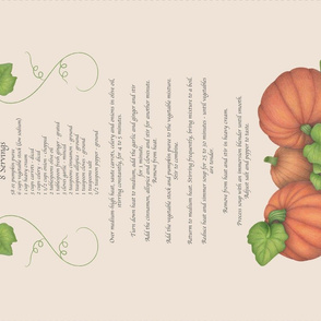 Pumpkin Soup Tea Towel