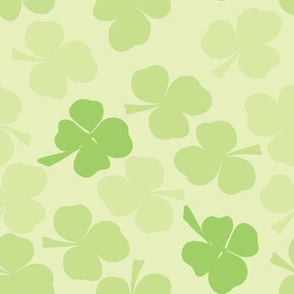 Clovers all around - a hue of greens