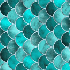 Abstract Waves (Turquoise) / Tilted