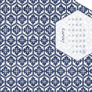2013 Full Moon Linen Teatowel Calendar  18x27 inches